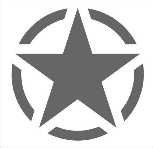 Folienschnitt Aufkleber  US Army Star Amerikanischer Armeestern USA