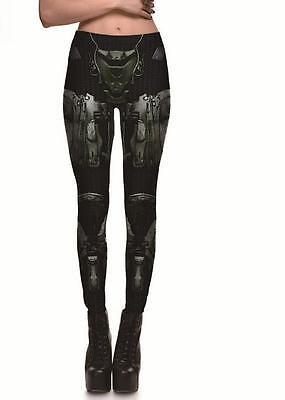 Armor Robot Machine printed Woman legging S-4XL Slim leggings 3067