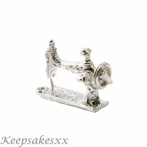 Sterling Silver Sewing Machine Crafts Uk 925 3d New Charm Charms