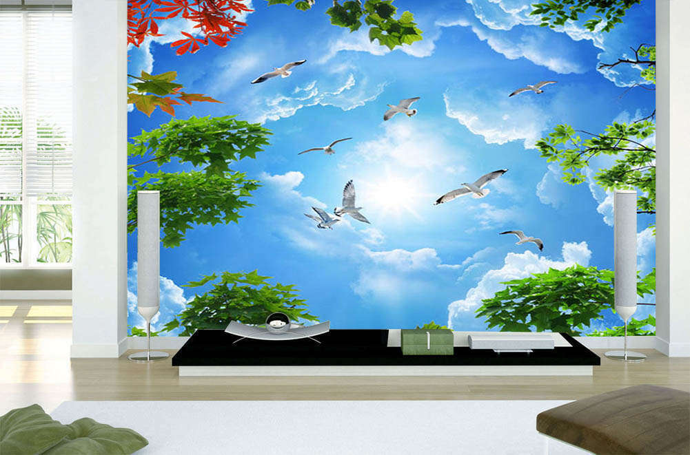 Navigate Blau Sky 3D Full Wall Mural Photo Wallpaper Printing Home Kids Decor