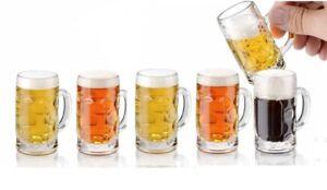 6x-Shot-Glass-Mini-Tankard-Spirit-Glasses-Mini-Beer-Stein-Dimpled-German-Style