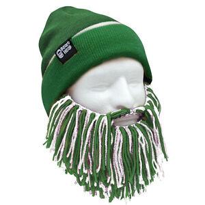 New York Jets Green White Knit Football Beard Ski Face Mask   Winter ... e3cc33f5cd42