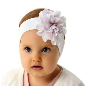 Details Zu Marika Baby Mädchen Stirnband Haarband Kopfschmuck Taufe Frühling Sommer Weiß
