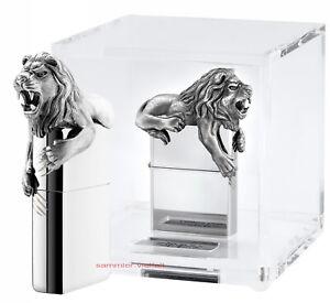 Zippo-Lion-3D-Edicion-Limitada-N-172V-2500-Leon-en-Gran-Acrilico-Cubo-Nuevo