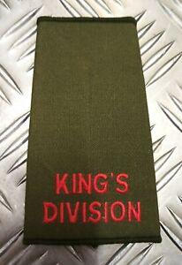 Genuine-British-Army-OD-Green-King-039-s-Division-Plain-Rank-Slide-Epaulette
