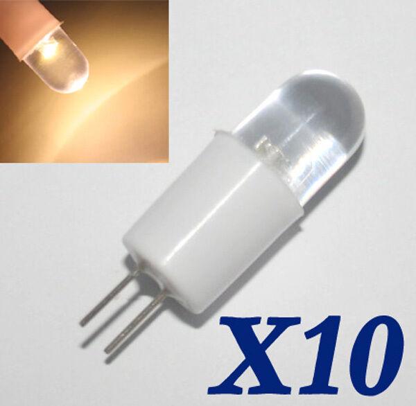 10X LED G4 Strahler Leuchte Lampe Birnen Warmweiß Neu DC 12V