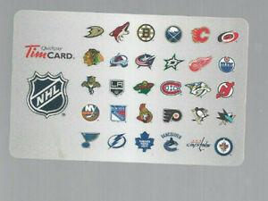 TIM-HORTON-039-S-TEAM-LOGOS-NHL-COLLECTABLE-GIFT-CARD