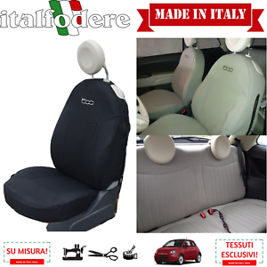 Fiat 500 Housse Foderine Complet Noir 316 Liners Housses de Siège sur Mesure