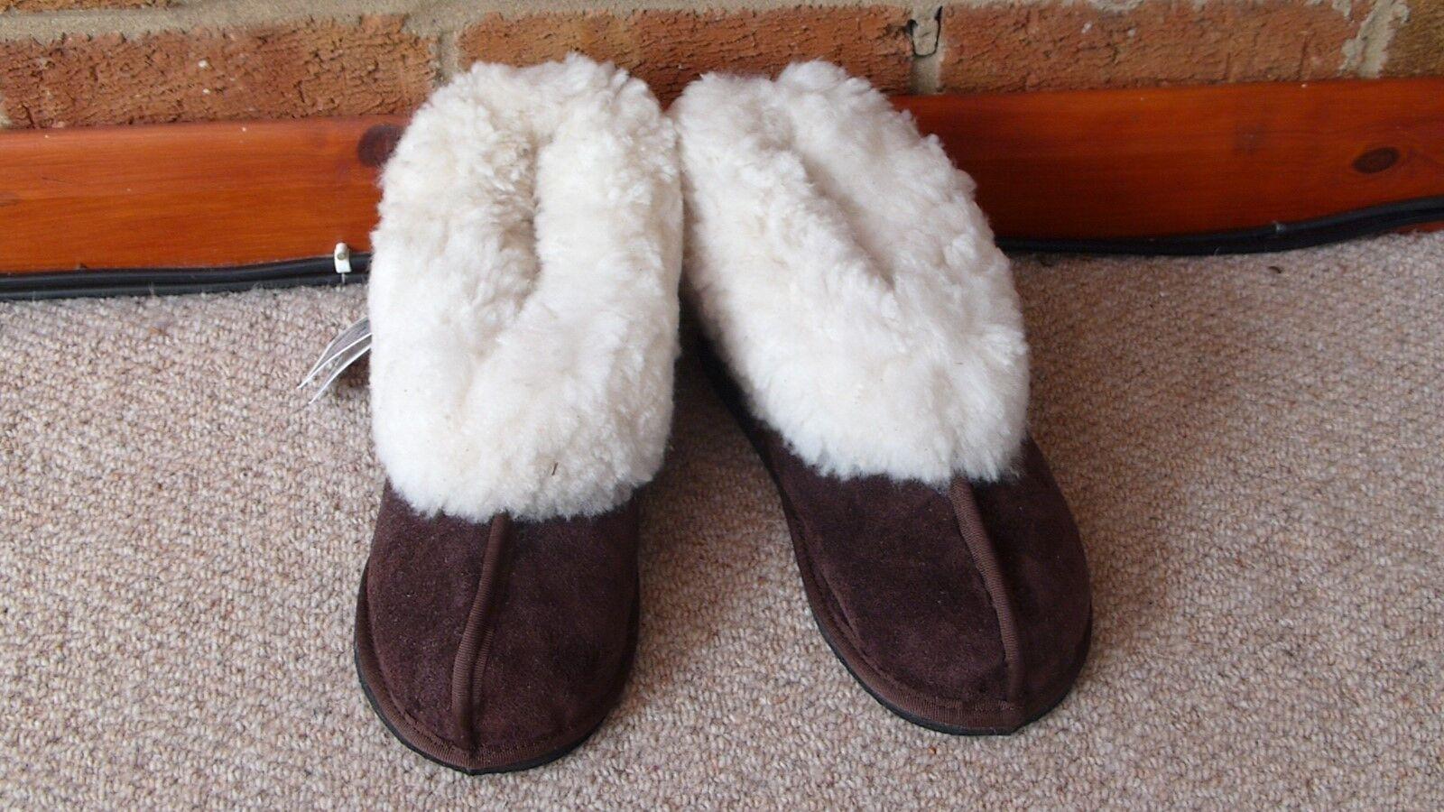 KARU Genuine Sheepskin Slippers (Cuff) Unisex UK Adult Gre 1 to  Adult Gre 14