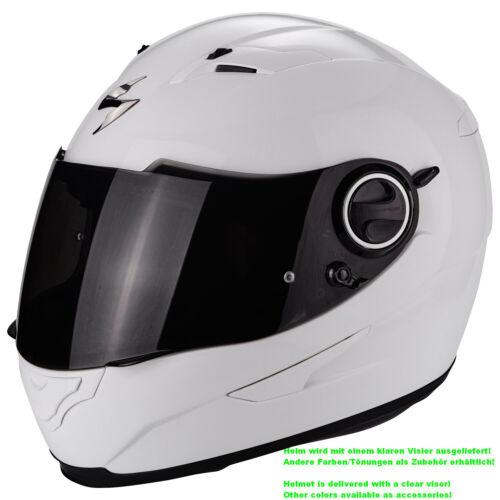 weiss Scorpion EXO-490 SOLID Motorrad Integralhelm Touring