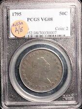 1795 Flowing Hair Half Dollar, O.113a A/E Variety, PCGS VG 8 (TO115)