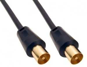 5 meter Tv Ariel Cable Lead Extension Cable Free-view Male To Male  black  GOLD