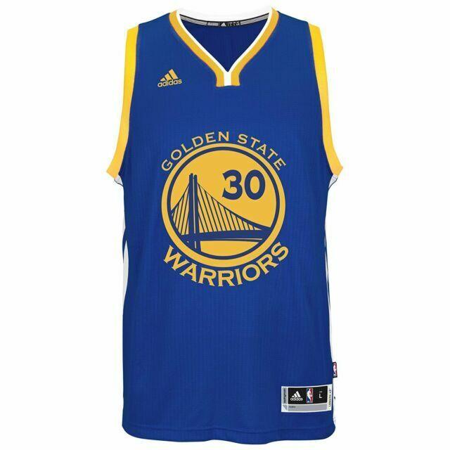 adidas Golden State Warriors Steph Curry Swingman Basketball Jersey Men's Small