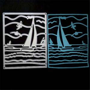 Stanzschablone Segelschiff Mowe Welle See Meer Hochzeit Sommer Karte
