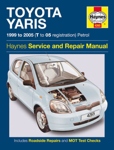 Haynes Workshop Manuale per Toyota Yaris Benzina 99-05