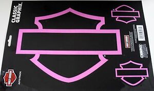 Harley Davidson Decal Sticker Pink Motorcycle Ride Silhouette Set - Stickers for motorcycles harley davidsons