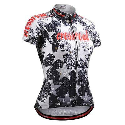 FIXGEAR CS-W2402 Women's Short Sleeve Cycling Jersey Bicycle Roadbike MTB