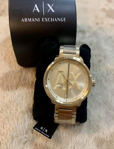 A-X-Men-039-s-Gold-Tone-Stainless-Steel-Watch-AX1363