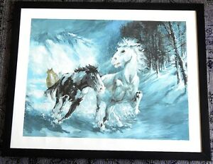 Americo-Makk-034-FLYING-SNOW-034-Original-Serigraph-ART-ARTIST-PROOF-UNFRAMED-AP-16-25
