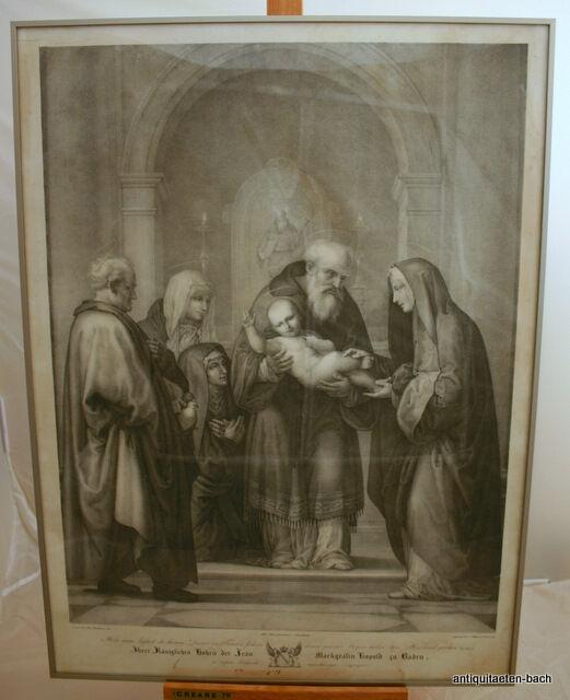 Fra Bartolomeo,Alter Stich nach ,Maria,Jesus,Markgräfin Leopold,Steindruck