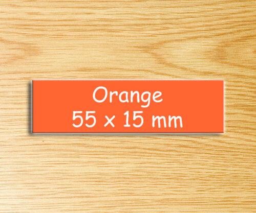 mit Gravur Türschild Namensschild Briefkastenschild 55 x 15 mm ORANGE