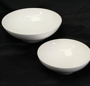 "Franciscan Cloud Nine Serving Bowls 8"" and 10"" Lot of 2"