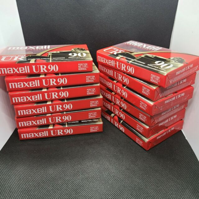 Maxell UR-90 Blank Audio Cassettes 12 Single 90 Min - Factory Sealed