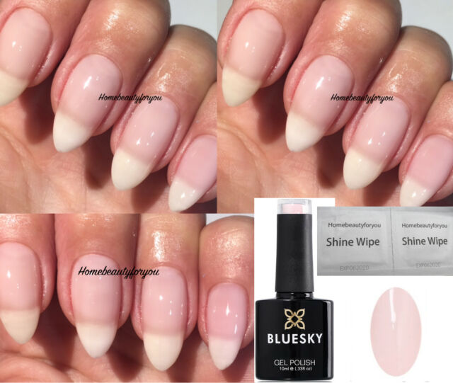 Bluesky A68 Light Sheer Milky Pink Nail GEL Polish UV LED Soak off ...