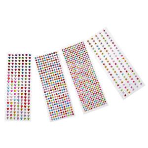 4-Sheets-Star-Dot-Flower-Love-Heart-Stickers-For-Children-Teacher-Reward-Lot