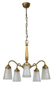 """Prachtvolle original Art Déco Deckenlampe Hängeleuchte 1920 """"SOLEILS"""""""