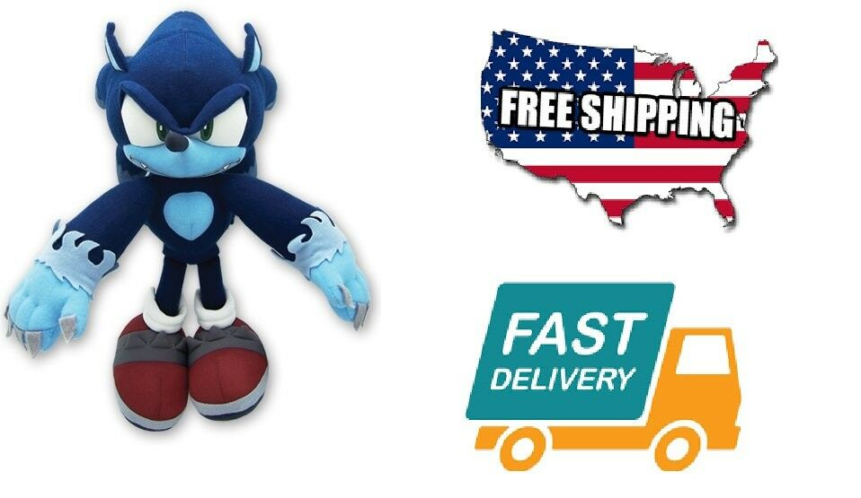 Home Kids Hobbies Toy Play GE Animation Sonic Character  Hedgehog Werehog Plush