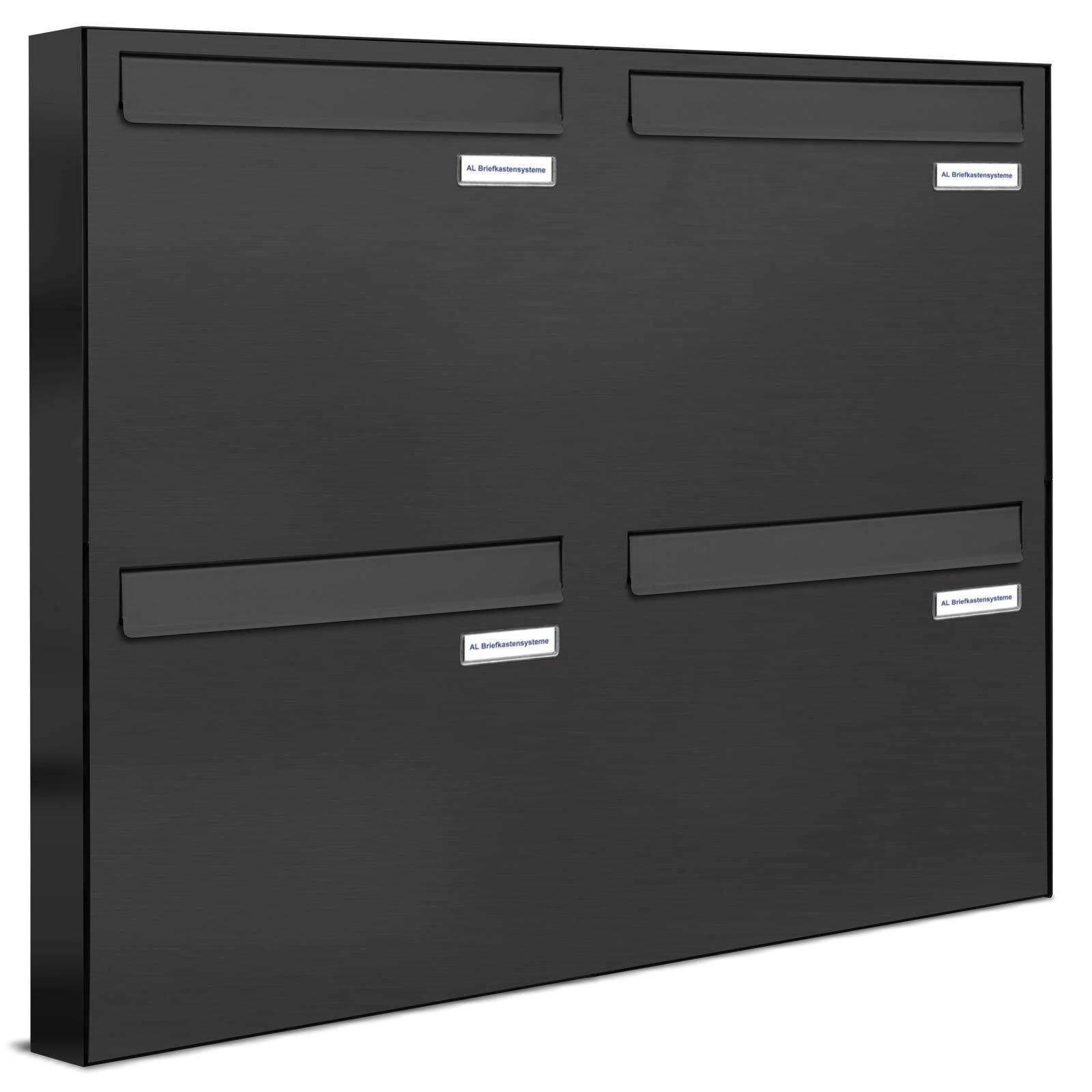 4 er Premium Zaun Durchwurf Briefkasten Anthrazit RAL Fach Postkasten design
