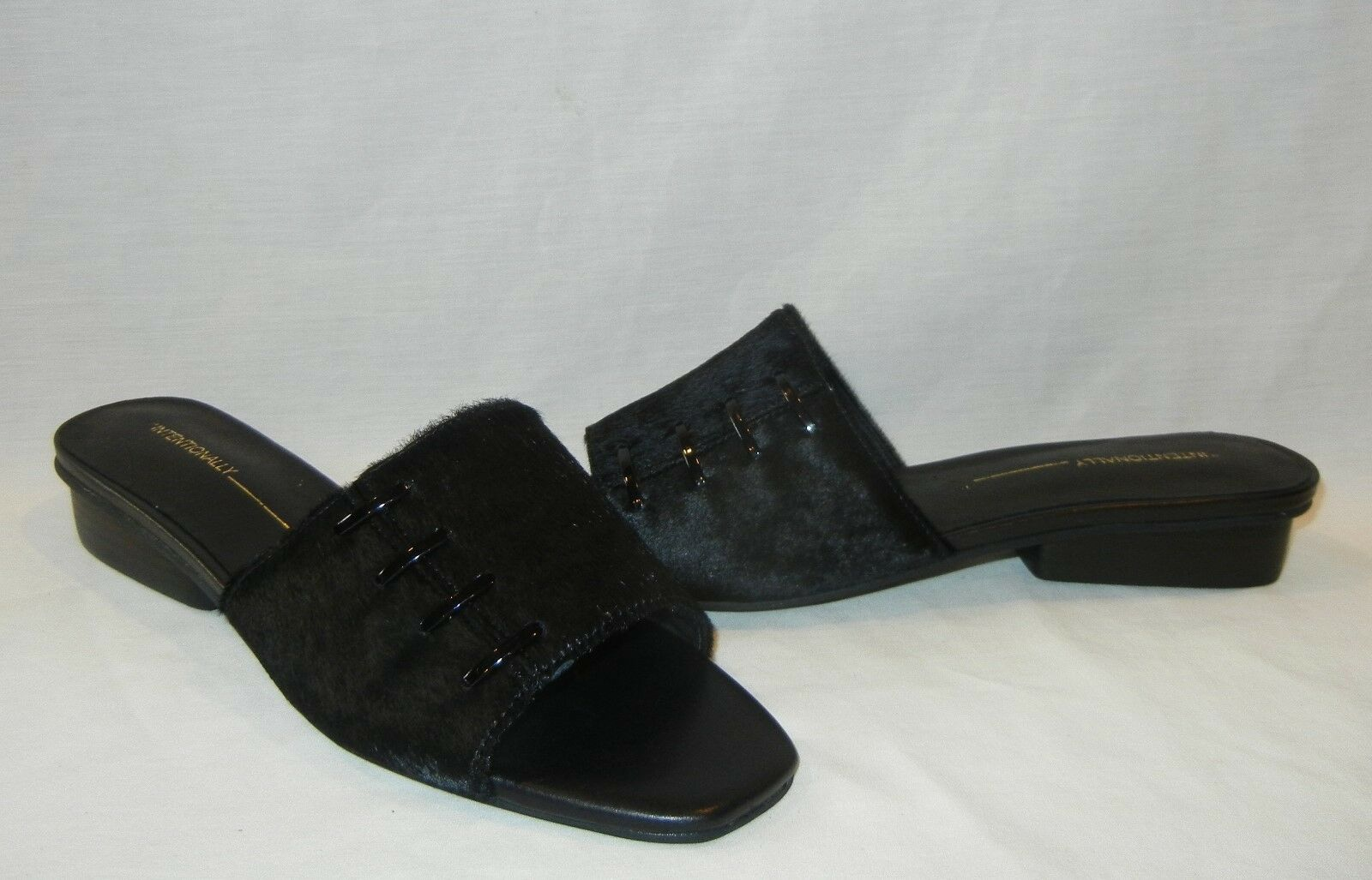 Intentionally Blank Women's Talk Leather Flats Slides Retail  180 size 9