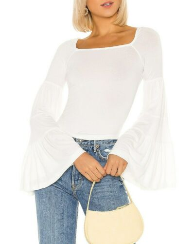 Free People Womens Babetown OB1013580 Top Relaxed Ivory White Size XS