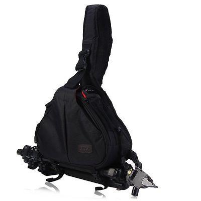 Caden K1 Waterproof Triangle Messenger Shoulder Bag for Sony Nikon BLACK