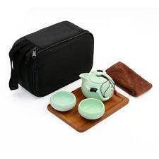 Portable Travel Kungfu Tea Set, Chinese/ Japanese Style, Handmade Ceramic Teapot