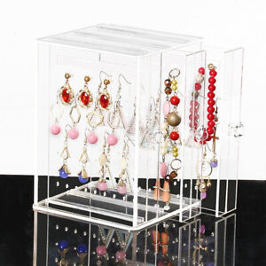 Acrylic-Earring-Display-Rack-Stand-Organizer-Holder-Ear-Studs-Storage-Clear