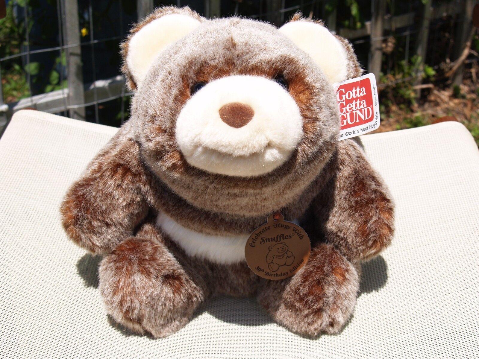 a4e1ce2088989 ULTRA RARE GUND - 30TH BIRTHDAY- 10 CHOCOLATE SNUFFLES BEAR- ALL TAGS