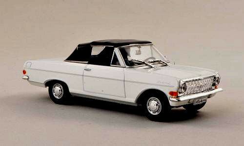 Wonderful Wonderful Wonderful modelcar OPEL REKORD A DEUTSCH CONgreenIBLE 1963 - white  - scale 1 43 14bcd5