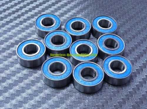 10 Pcs Rubber Sealed Ball Bearings Bearing MR117RS BLUE MR117-2RS 7x11x3 mm