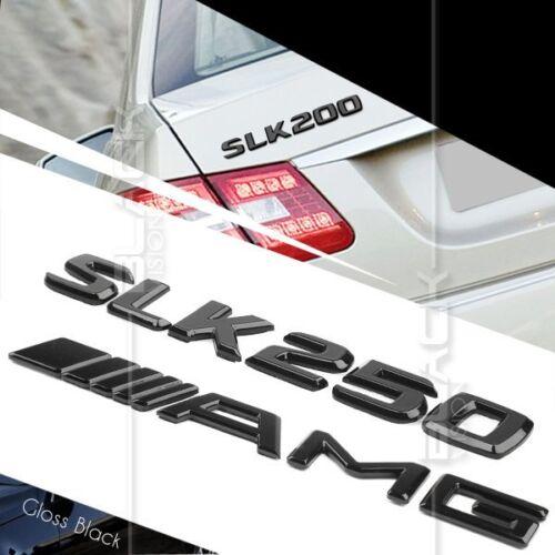 BLACK REAR BOOT LETTER EMBLEM BADGE FOR MERCEDES BENZ R172 SLK CLASS SLK250 AMG