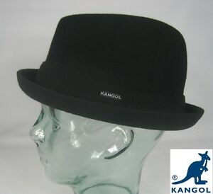 Kangol Wool Player Hat Rocky Trilby Black Hat Pork Pie Wool Hat ... 7eabc8f986e