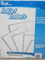 5600 Quill Inkjet Address Labels; White, 1-1/3 X 4 Free Shipping