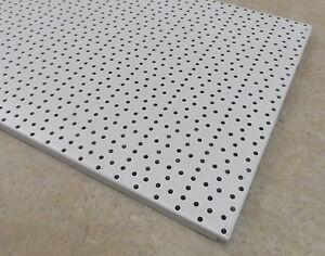 4x-LOCHWANDE-100-cm-LOCHWAND-WERKSTATT-TEGO-TEGOMETALL-LICHTGRAU-RAL-7035