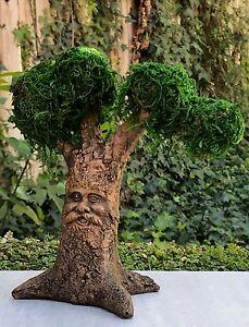 Miniature Dollhouse FAIRY GARDEN ~ Mini Tree with Face & Moss Covered Treetops