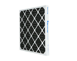 Nordic Pure 10x25x1 MERV 8 Pure Carbon Pleated Odor Reduction AC Furnace Air Filters 2 Pack