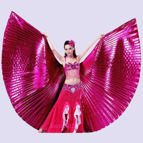 no stick Egyptian Egypt Belly Dance one piece 360° Isis Wings 11 colors