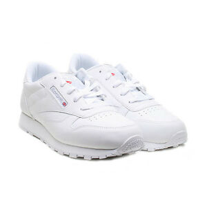 696fdb89dae0f Reebok Youth Shoes Classic Leather 50150 White Grey Running Tennis ...