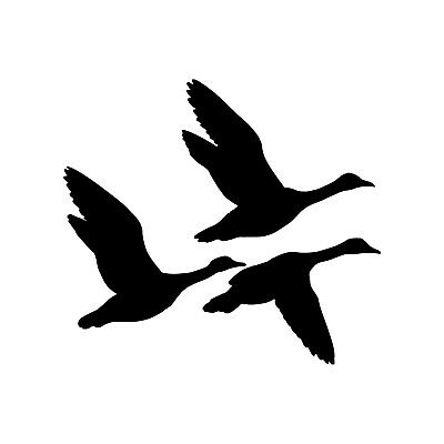 Vinyl Die-Cut Peel N/' Stick Decals Hunting//Outdoor 6 Ducks//WaterFowls Flying