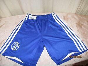 FC-Schalke-04-Original-Adidas-Heim-Kinder-Trikot-Hose-Short-2008-09-Gr-140
